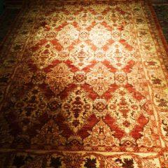 Rust & Warm Beige Persian Rug
