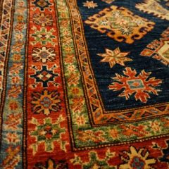 Denim Blue Rust Caucasus Tribal