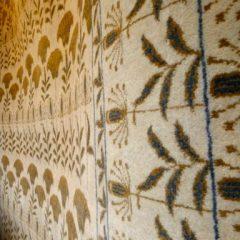 """William Morris Style Custom """"Taj"""" Ivory Rug"""