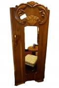 "Art Deco Hand Carved ""Lotus"" Armoire"