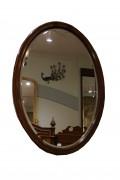 Oval Mahogany Mirror